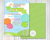 Lorax Inspired Printable Birthday Party Invitation - Petite Party Studio