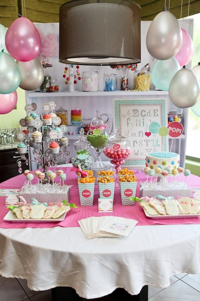ready to pop baby shower printable party collection petite