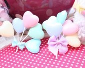 Fairy Kei Pastel Hearts Balloon Hair Clip PREORDER
