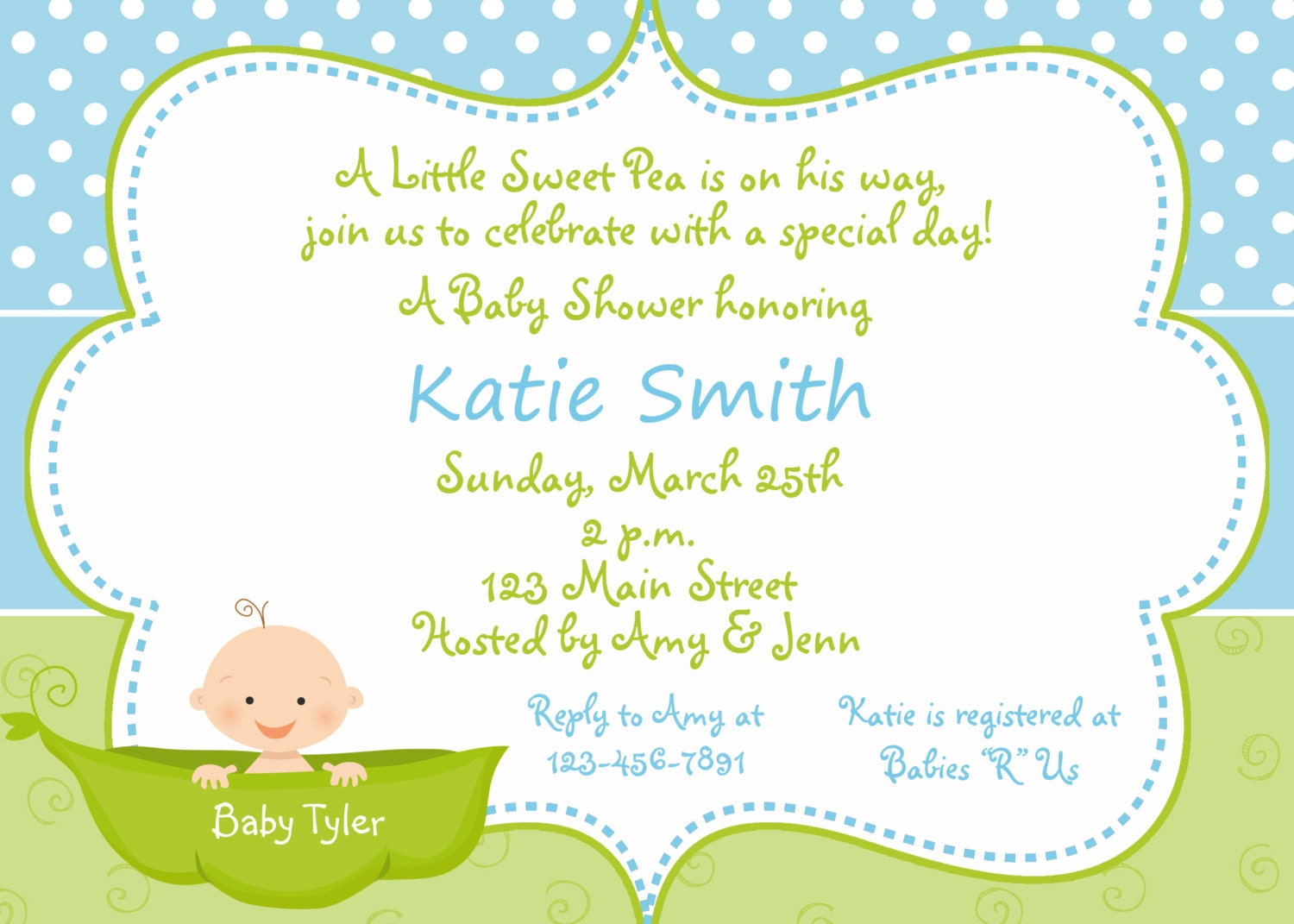 Pea In The Pod Baby Shower Invitations for awesome invitations template