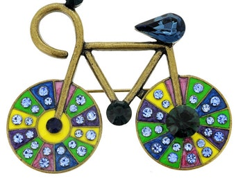Montana Blue Bicycle Pin Brooch 1001351