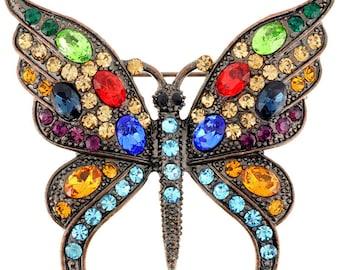 Multicolor Butterfly Pin Brooch  1001612