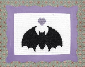 Bat Cross Stitch Kit