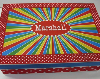 Circus Themed Personalized Keepsake Box