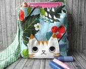Custom Tabby Cat kid messenger satchel