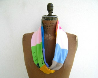 T-Shirt Scarf Women's Tee Scarf Womens Scarf Infinity Scarf Lightweight Scarf Recycled Tee Shirt Scarf Cotton Scarf