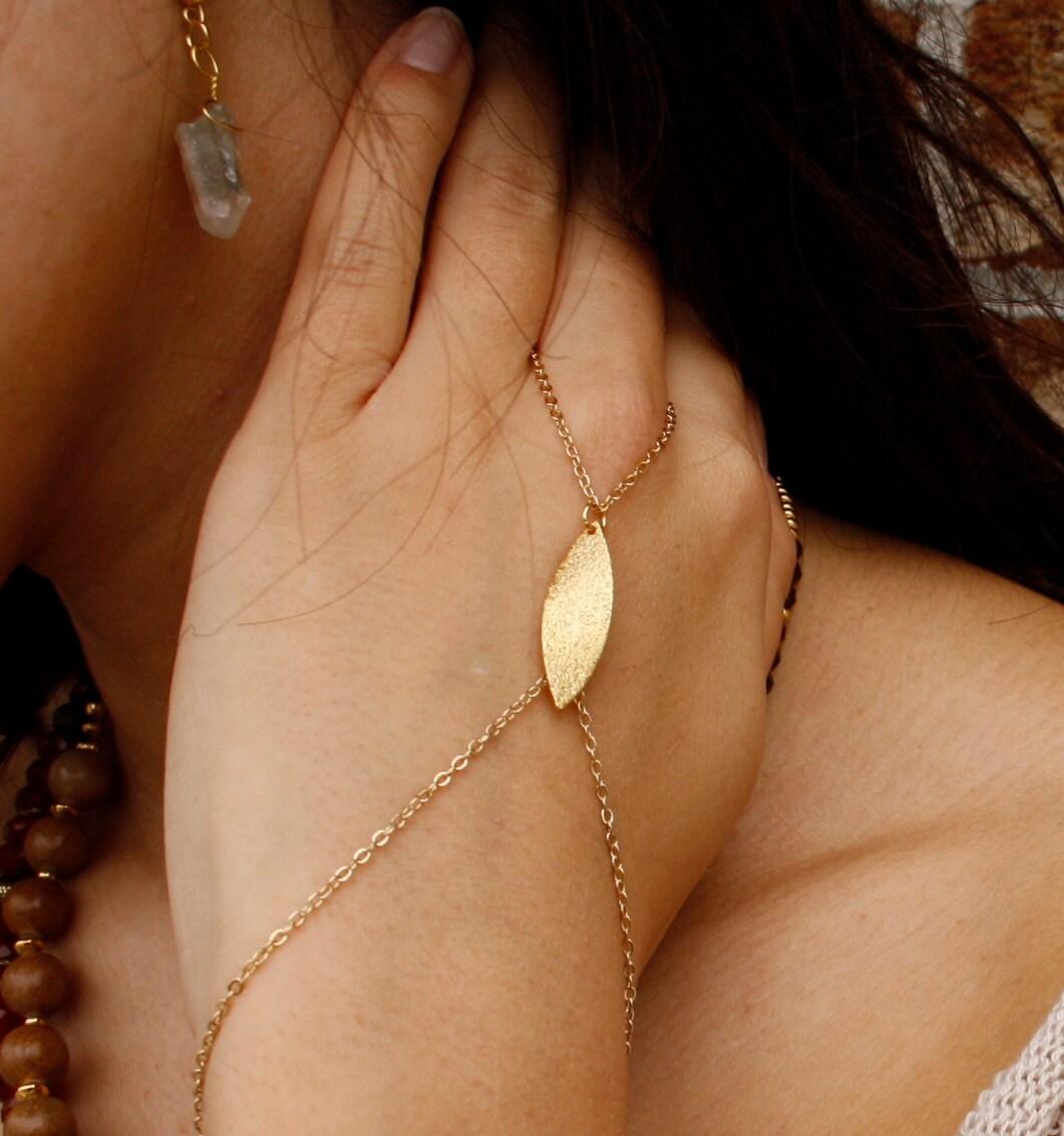 Gold Ring Bracelet Chain Gold Chain Ring Bracelet