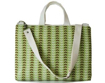 """SALE-13"""" Macbook or Laptop bag with handles and detachable shoulder strap-Leaf"""