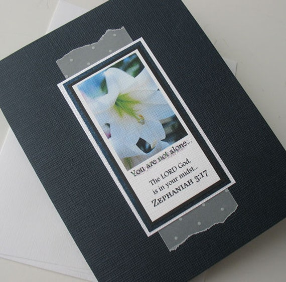 Sympathy Greeting Card: Handmade Blank Note Card - In Your Midst