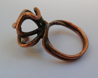 Wire Work Ring Copper Ring