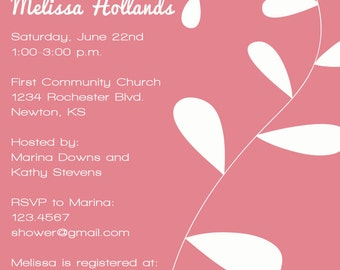 Wedding Shower Invitation WEDDING SHOWER BRIDAL