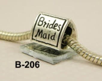 Bridesmaid - European Big Hole Charm
