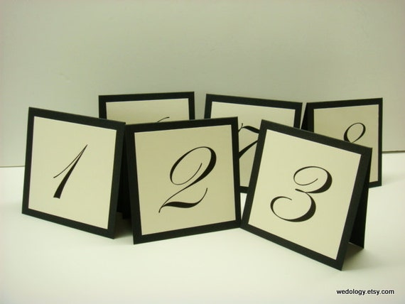 Wedding table number small tented design prepared in by for Table design numbers