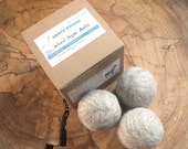 Wool Dryer Balls. Felt Balls. Set of 3. Unscented. Natural colour. Undyed. Green Living. Sustainable. Laundry. Softness. Re-usable. Gift