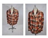 vintage wool jacket coat shirt flannel made in california rockabilly 1950s blazer