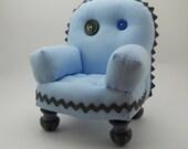 Baby Blue Pincushion Chair