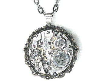 SALE, Awsome Steampunk Necklace for Him