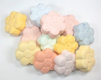 April Showers Bring May Flowers - 12 flower bath bombs/shower fizzies - bath fizzy, wedding, baby shower, bridesmaids, graduation, spring