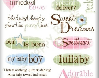 Baby Rub ons Scrapbooking Crafts Cards SBC