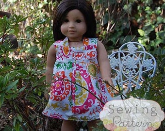 INSTANT DOWNLOAD- Harper Reversible Doll Dress PDF Sewing Pattern and Tutorial