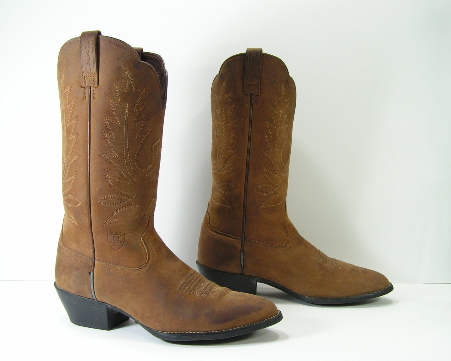 ariat cowboy boots womens 10 m brown western distressed