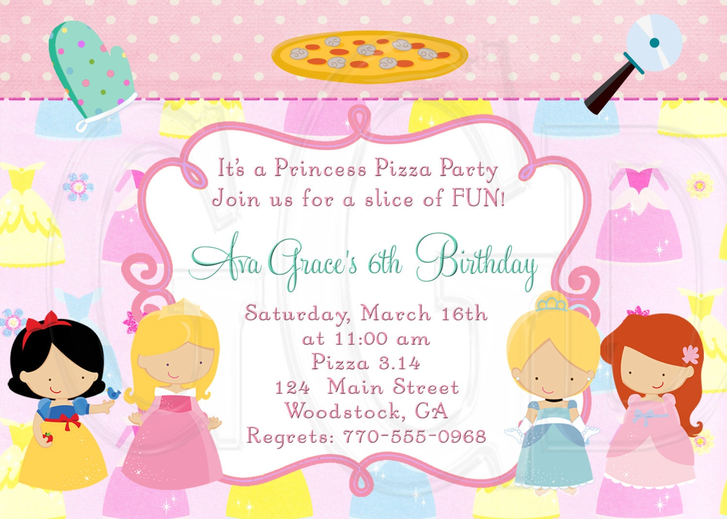 zoom - Pizza Party Invitation