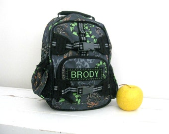 Mini Personalized Toddler (Mini Size) Backpack Pottery Barn -- Gray Snake