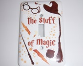 Wizard themed single light switch cover