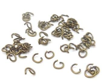 800 oval Bronze Split Open Jump Rings Findings 4X4.5mm