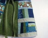 Girl's/Toddler Patchwork skirt, sizes 2T - 5, blue/green
