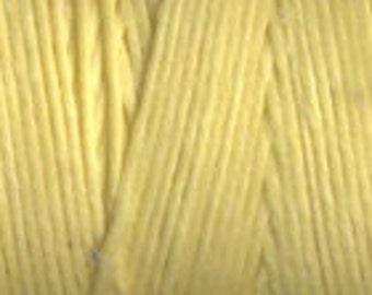 10 Yards Lemon Yellow 4ply Irish Waxed Linen Thread