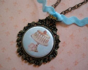 SALE cake necklace