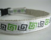 "Blue and Green organic Cotton 1/2"" collar"