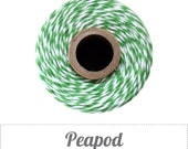 Peapod - Green and White Baker's Twine by The Twinery - 240 yard spool
