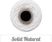 Solid Natural Baker's Twine - Cream Cotton Twine - 240 yard spool