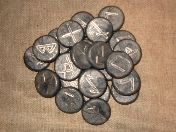 Handmade Runes Of The Elder Futhark, Silver/Goddess