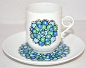 Mid Century Modern Marina Cup and Saucer Set Arabia Made in Finland