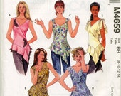Misses' Tops and Flower Sewing Pattern - McCall's 4659 - Sizes 8, 10, 12