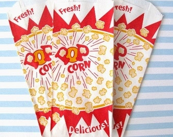 50 Popcorn Bag. Birthday Party, Concession, PIcnic, BBQs, Movie Night, Carnival, Circus, Sporting Events