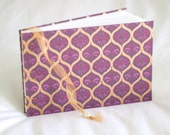 Art deco guest book memory journal arabesque gold purple pink wedding album