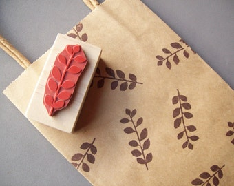 Floral Leaf Rubber Stamp for Patterns, Gift Wrap, Cards, Scrapbooking