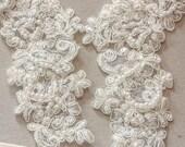 Ivory Bridal Lace applique - Appset- 11