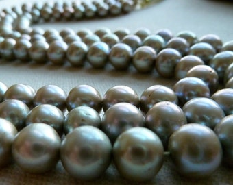 Silver Sage Potato Pearls - 8.5 to 9.5mm