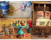 Vintage Radiator Springs Can Labels as seen on Kara's Party Ideas
