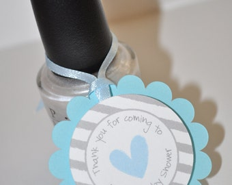 boys baby shower favor tags blue and gray thank you tags baby