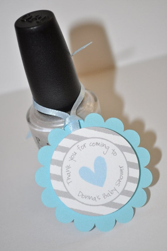 baby shower favor tags blue and gray thank you tags baby shower