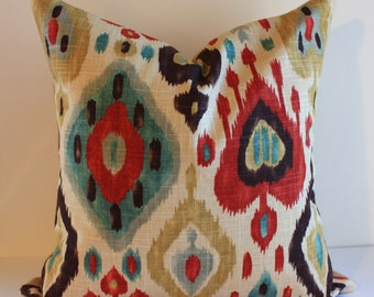 Ikat Pillow Cover /  Select Your Size
