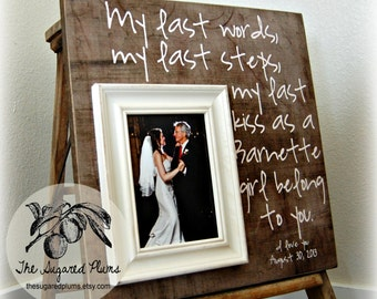Father of the Bride Gift, Father of the Bride Frame, Father of the Groom, Parents Thank You Gift Wedding, 16x16