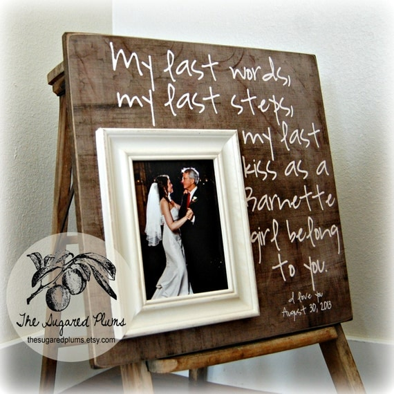 bride frame father daughter gift parents thank you gift wedding