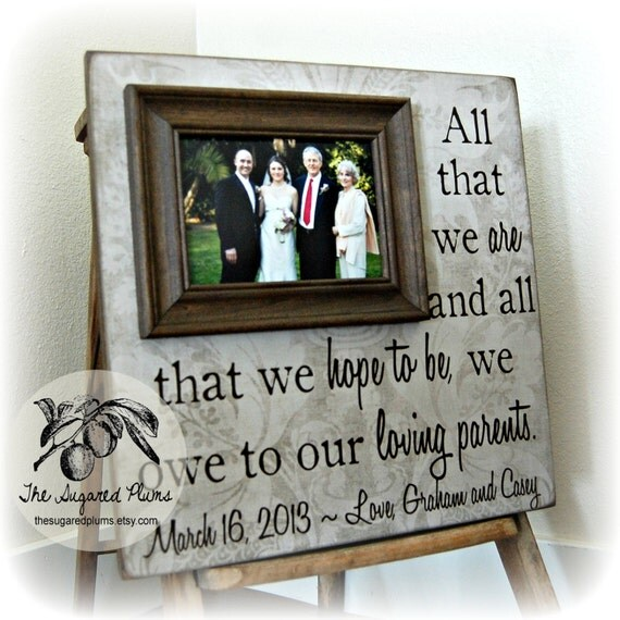Parents of the Bride Gift, Parents of the Groom Gift, Parent Thank You ...